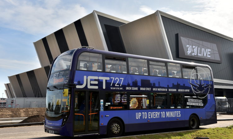 Stagecoach announced as official transport partner at PJ Live credit Aberdeen journals